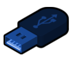 blue flash drive icon