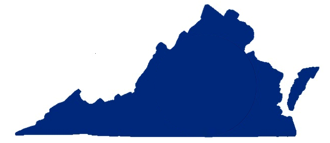 Silhouette of State of Virginia